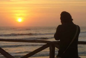 Auslandsaufenthalt Peru Sonnenuntergang