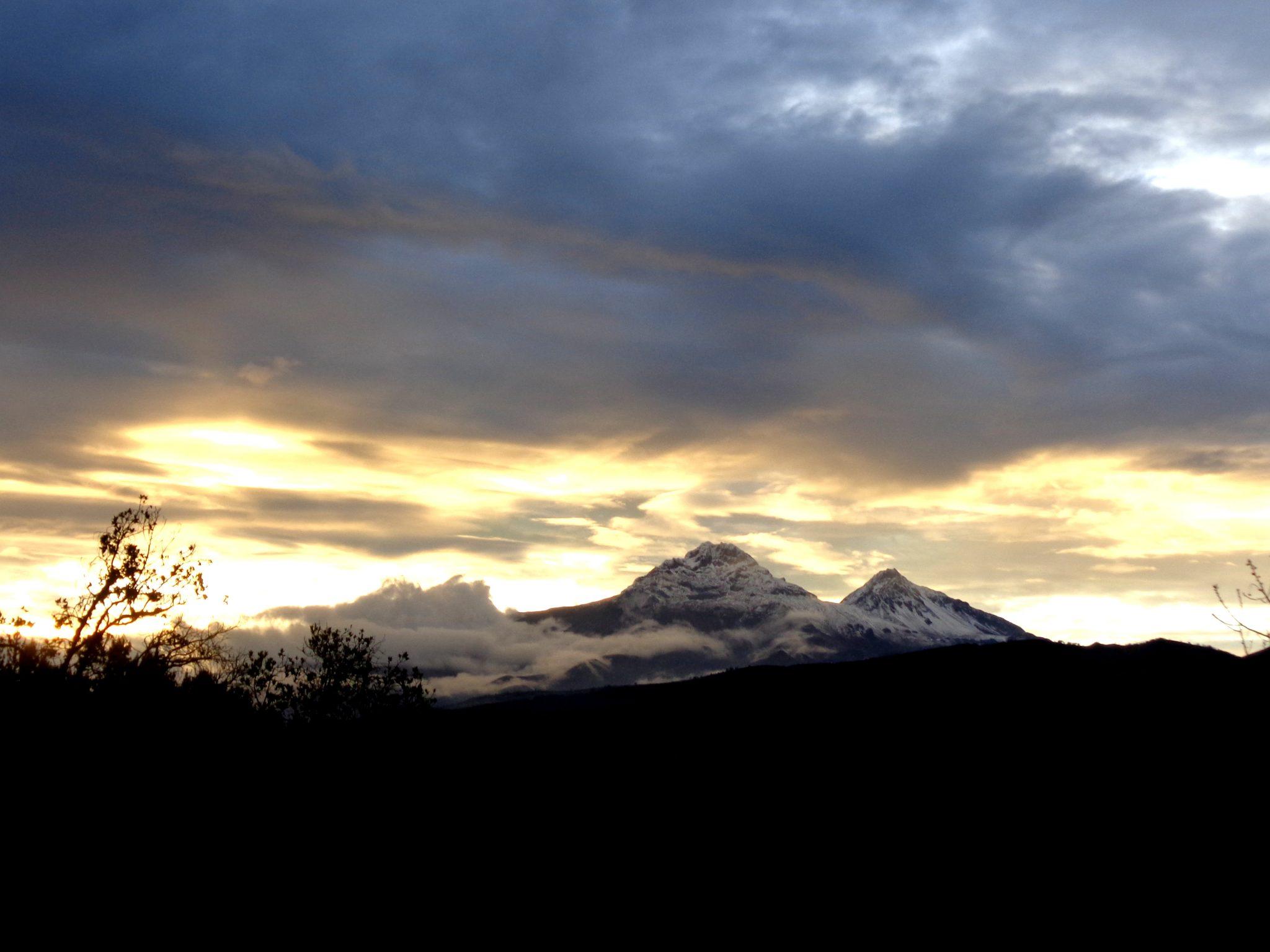 Auslandsaufenthalt Ecuador Sonnenuntergang