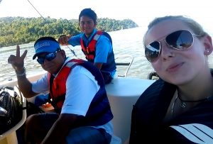 Tourismuspraktikum Costa Rica, Bootsfahrt