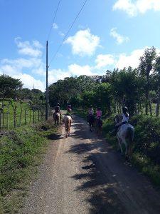 Ausritt Costa Rica Pferden