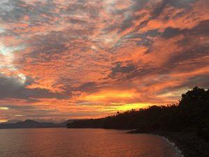 Sonnenuntergang Bali Meer