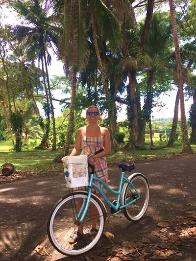 Fahrrad durch Costa Rica Praktikantin