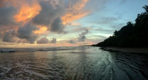 Sonnenuntergang Strand Costa Rica