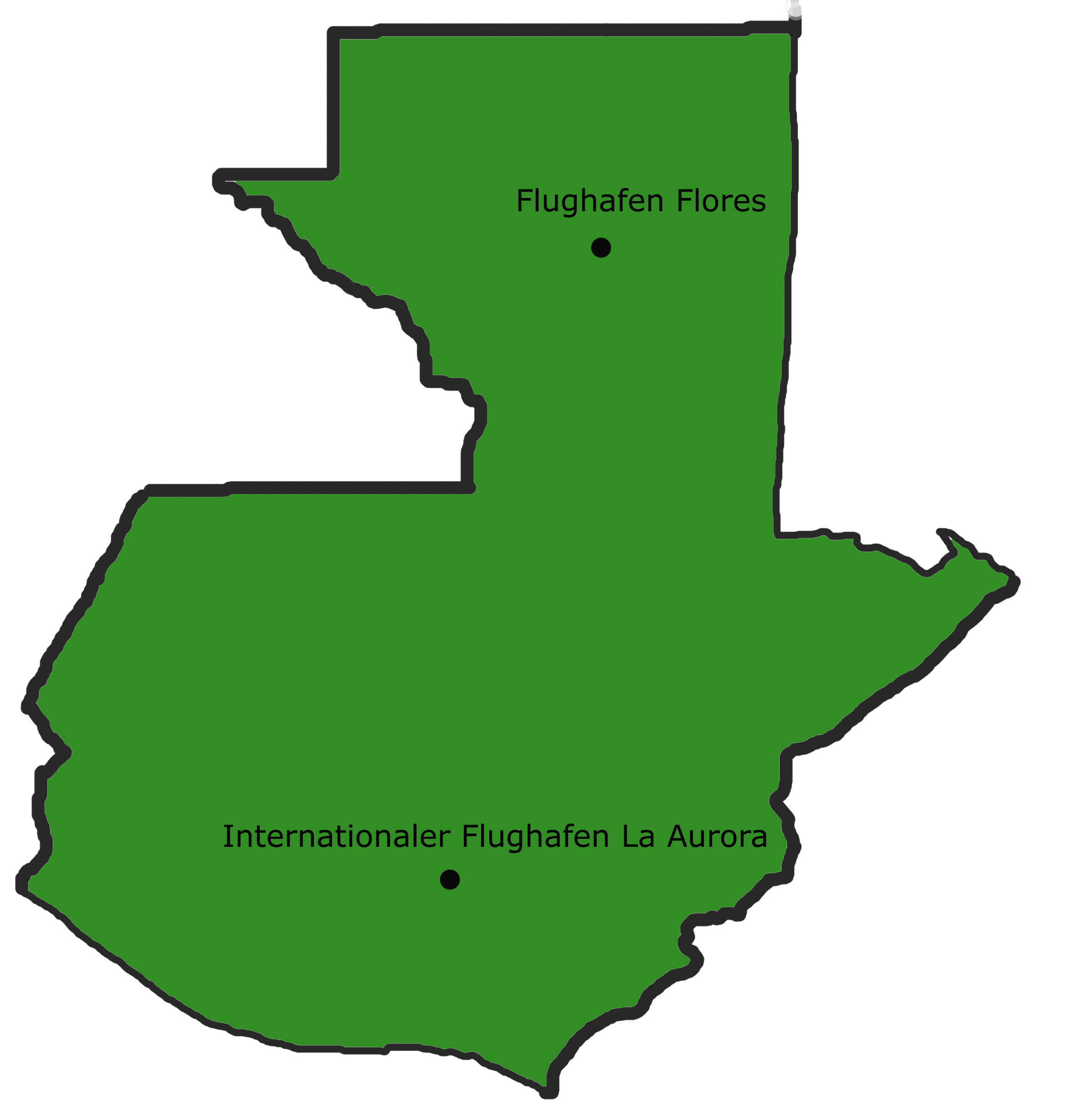 Landkarte Guatemala