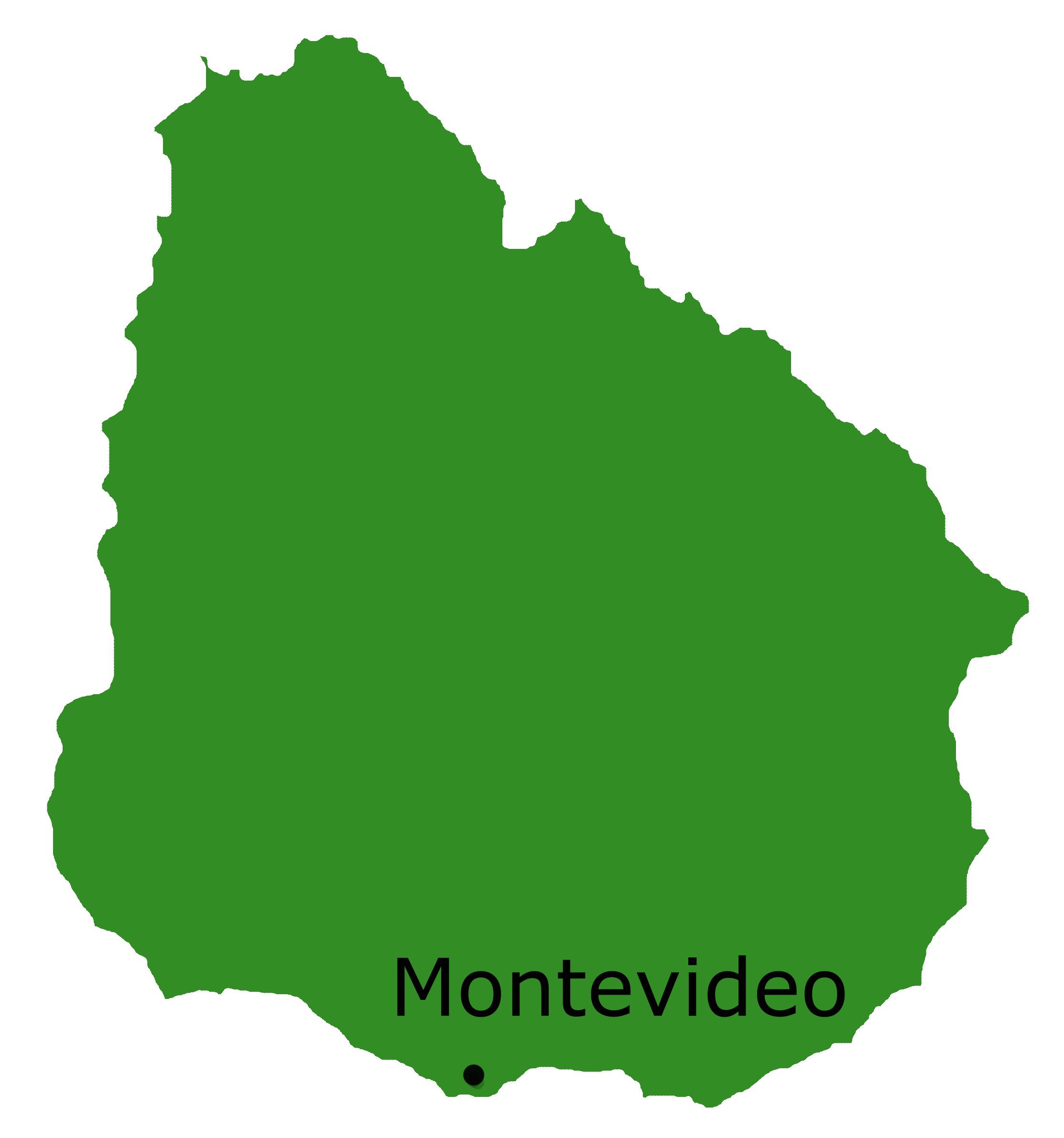 Landkarte Uruguay