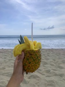 Ananas am Strand in Costa Rica